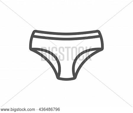 Panties Line Icon. Underwear Pants Sign. Women Undies Lingerie Symbol. Quality Design Element. Line