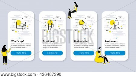 Set Of Technology Icons, Such As Synchronize, Reject Certificate, Location App Icons. Ui Phone App S
