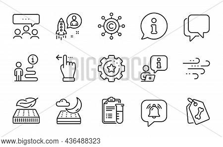 Business Icons Set. Included Icon As Pet Tags, Touchscreen Gesture, Meeting Signs. Copywriting Netwo