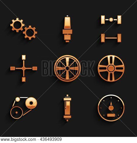 Set Alloy Wheel, Shock Absorber, Speedometer, Timing Belt Kit, Wheel Wrench, Chassis Car And Gear Ic