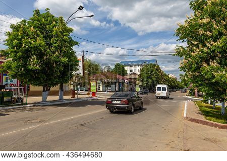 Comrat, Gagauzia, Republic Of Moldova - 02 May 2016: View Of The Center Comrat, Cars On The Lenin St