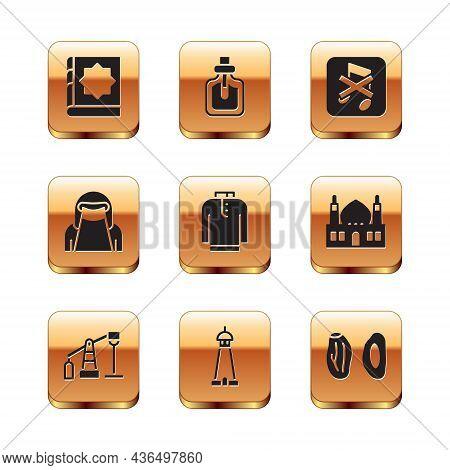 Set Holy Book Of Koran, Oil Pump Pump Jack, Mosque Tower Minaret, Shirt Kurta, Muslim Woman Niqab, S