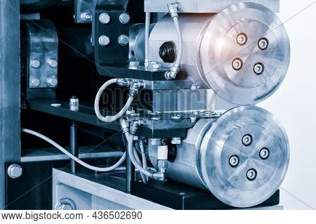 Metalworking Industry Concept, Industrial Equipment For Cutting And Welding Metal Details