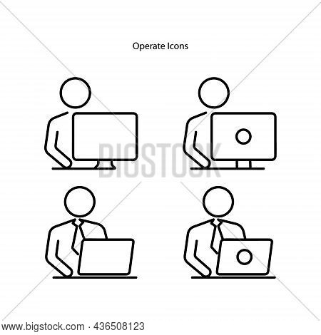 Operator Icons Isolated On White Background. Operator Icon Trendy And Modern Operator Symbol For Log