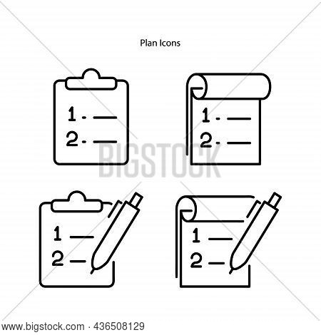 Document, Note, Icon, Vector, Line, Plan, Business, Outline, Strategy, Success, Marketing, Project,