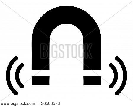 Magnet Field Vector Icon. A Flat Illustration Design Of Magnet Field Icon On A White Background.