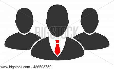 Boss Group Vector Icon. A Flat Illustration Design Of Boss Group Icon On A White Background.