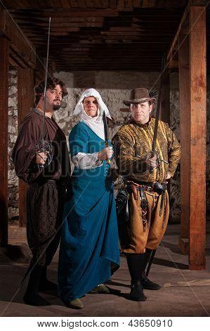 Tough Nun With Swordfighters
