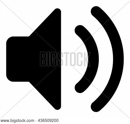 Sound Source Vector Icon. A Flat Illustration Design Of Sound Source Icon On A White Background.