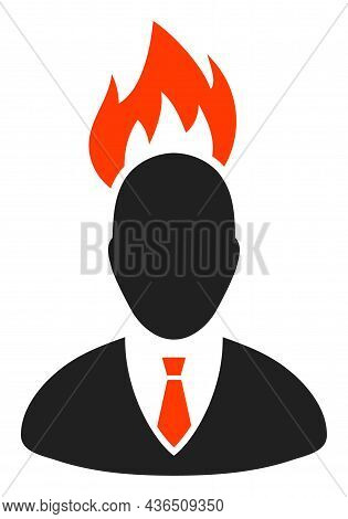Fired Boss Vector Illustration. A Flat Illustration Design Of Fired Boss Icon On A White Background.