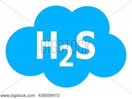 Hydrogen Sulfide Cloud Vector Illustration. A Flat Illustration Design Of Hydrogen Sulfide Cloud Ico
