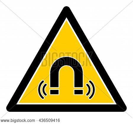 Magnet Field Danger Vector Illustration. A Flat Illustration Design Of Magnet Field Danger Icon On A