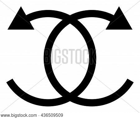 Knot Rotation Vector Icon. A Flat Illustration Design Of Knot Rotation Icon On A White Background.