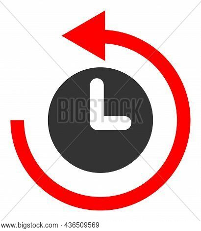 Time Return Rotation Vector Illustration. A Flat Illustration Design Of Time Return Rotation Icon On