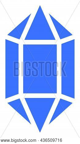 Crystal Vector Icon. A Flat Illustration Design Of Crystal Icon On A White Background.