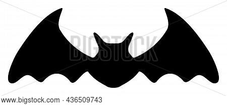Bat Mouse Vector Icon. A Flat Illustration Design Of Bat Mouse Icon On A White Background.