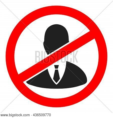 Stop Boss Vector Illustration. A Flat Illustration Design Of Stop Boss Icon On A White Background.