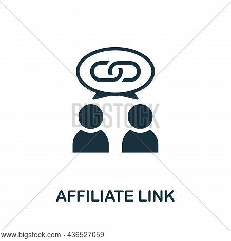 Affiliate Link Icon. Monochrome Sign From Affiliate Marketing Collection. Creative Affiliate Link Ic