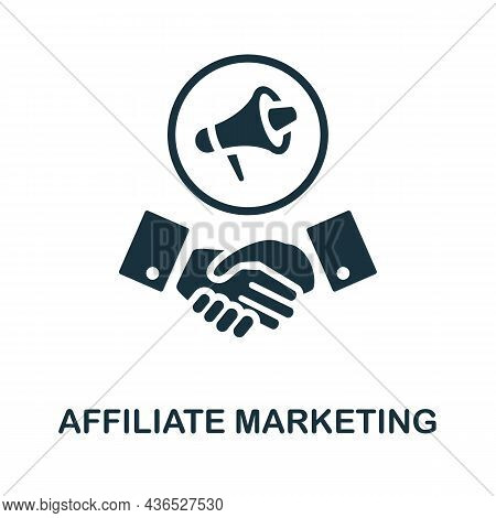 Affiliate Marketing Icon. Monochrome Sign From Affiliate Marketing Collection. Creative Affiliate Ma