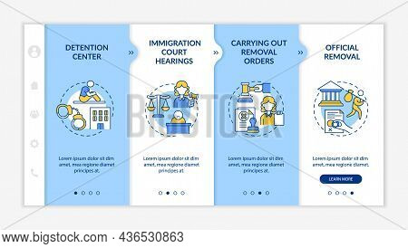 Deportation Procedure Onboarding Vector Template. Responsive Mobile Website With Icons. Web Page Wal