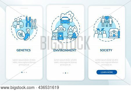 Risk Factors For Adhd Onboarding Mobile App Page Screen. Genetic Cause Walkthrough 3 Steps Graphic I