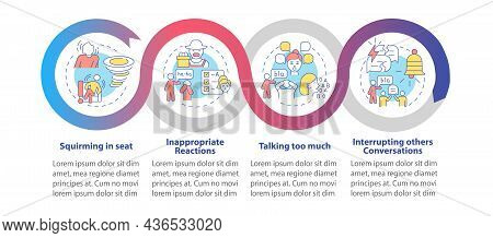 Impulsivity Symptoms Vector Infographic Template. Squirming In Seat Presentation Outline Design Elem