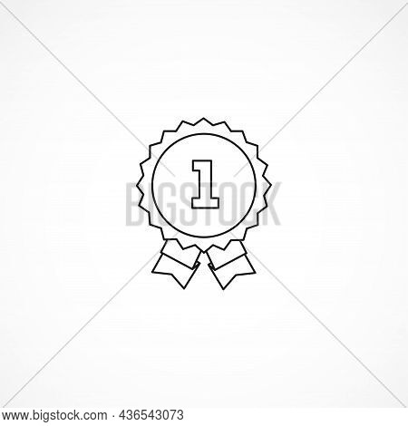Winner Awards Medal Icon. First Place Icon. First Place Medal Line Icon. Medal Isolated Line Icon