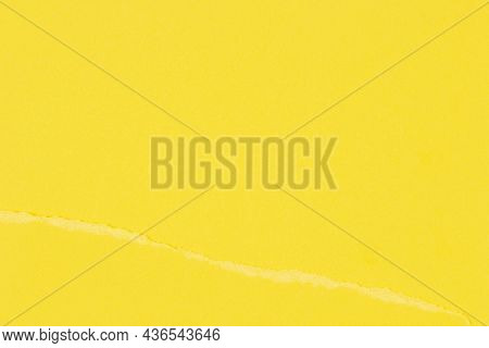 Torn Grunge Ripped Yellow Paper Background. Monochrome Torn Paper Collage Wallpaper