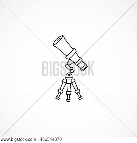 Telescope Line Icon. Telescope Isolated Line Icon