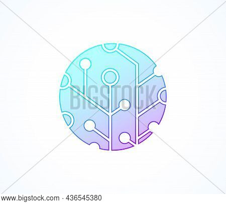 Futuristic Abstract Background Blockchain Technology. Peer To Peer Network Business Concept. Global
