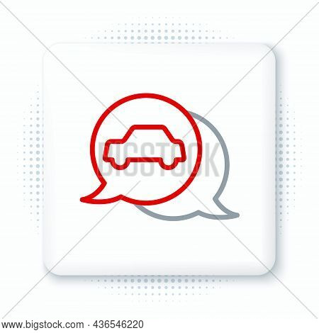 Line Car Service Icon Isolated On White Background. Auto Mechanic Service. Repair Service Auto Mecha
