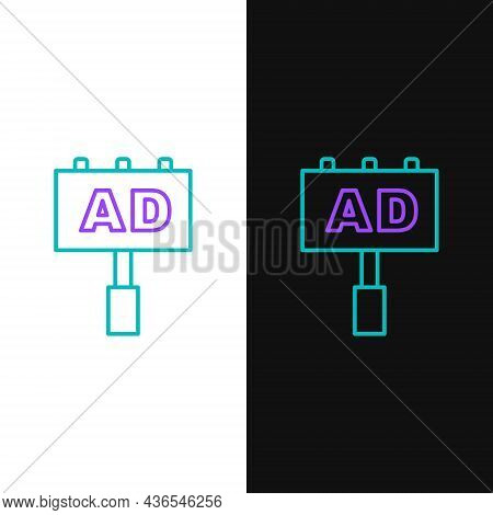 Line Advertising Icon Isolated On White And Black Background. Concept Of Marketing And Promotion Pro