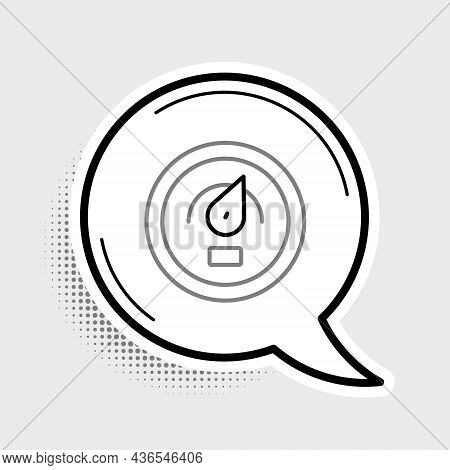 Line Digital Speed Meter Concept Icon Isolated On Grey Background. Global Network High Speed Connect