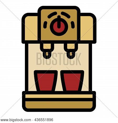 Compact Coffee Machine Icon. Outline Compact Coffee Machine Vector Icon Color Flat Isolated