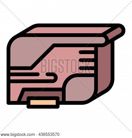 Jet Ink Cartridge Icon. Outline Jet Ink Cartridge Vector Icon Color Flat Isolated