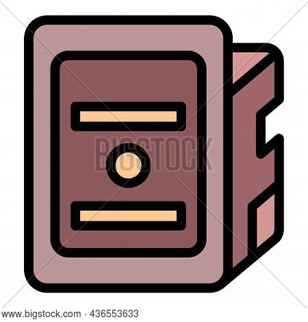 Print Cartridge Icon. Outline Print Cartridge Vector Icon Color Flat Isolated