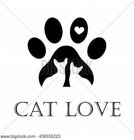 Pet Shop Logo. Dog And Cat Icon. Design Of Labels For A Pet Store, A Zoo. Vector Illustration Of A P