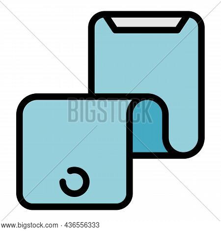 Flexible Display Icon. Outline Flexible Display Vector Icon Color Flat Isolated