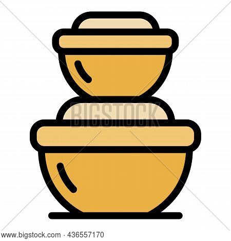 Modern Food Container Icon. Outline Modern Food Container Vector Icon Color Flat Isolated
