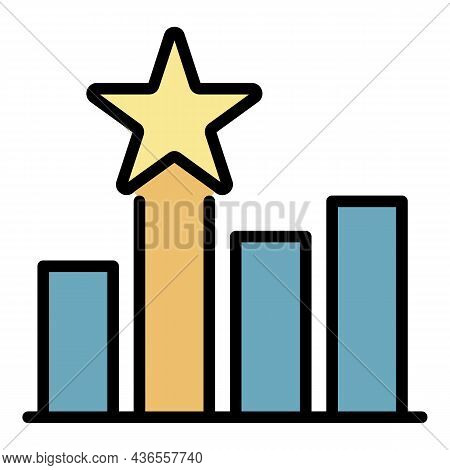 Celebrity Trophy Icon. Outline Celebrity Trophy Vector Icon Color Flat Isolated