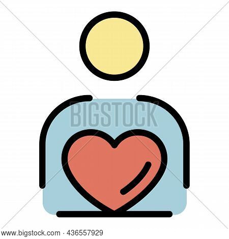 Love Celebrity Icon. Outline Love Celebrity Vector Icon Color Flat Isolated