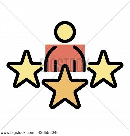 Star Celebrity Icon. Outline Star Celebrity Vector Icon Color Flat Isolated