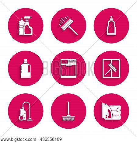 Set Washer, Mop, Electric Iron And Towel, Squeegee, Scraper, Wiper, Vacuum Cleaner, Plastic Bottles