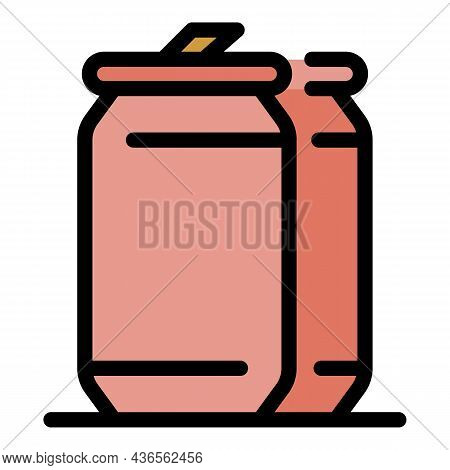 Energetic Tin Can Icon. Outline Energetic Tin Can Vector Icon Color Flat Isolated