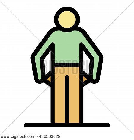 Man Get Fired Icon. Outline Man Get Fired Vector Icon Color Flat Isolated