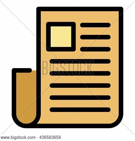 Job List Icon. Outline Job List Vector Icon Color Flat Isolated