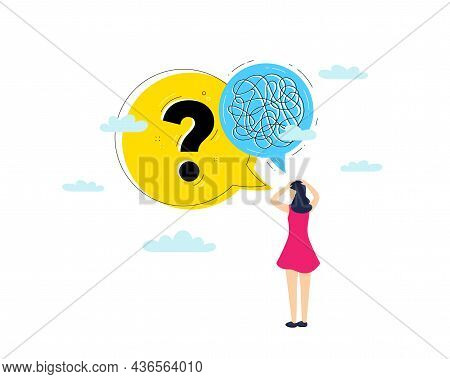 Mental Health, Mind Stress And Psychology Anxiety. Getting Help Information. Illustration Of Brain T