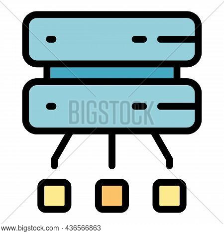 Disconnect From Server Icon. Outline Disconnect From Server Vector Icon Color Flat Isolated