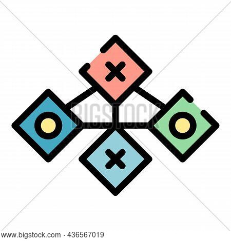 Connect To Servers Icon. Outline Connect To Servers Vector Icon Color Flat Isolated