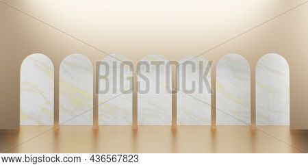 Classic Retro Style Scene With Product Stand 3d Illustration